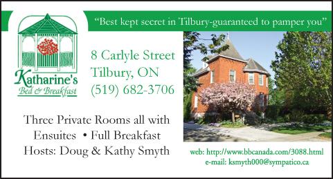 Katharine's Bed & Breakfast ad