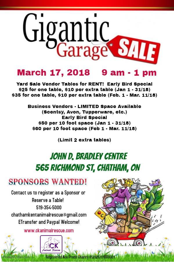 Gigantic Garage Sale Ck Today