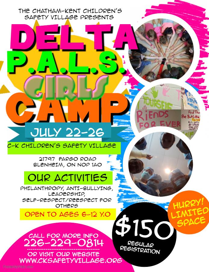 Delta P A L S  Girls Summer Camp - CK Today